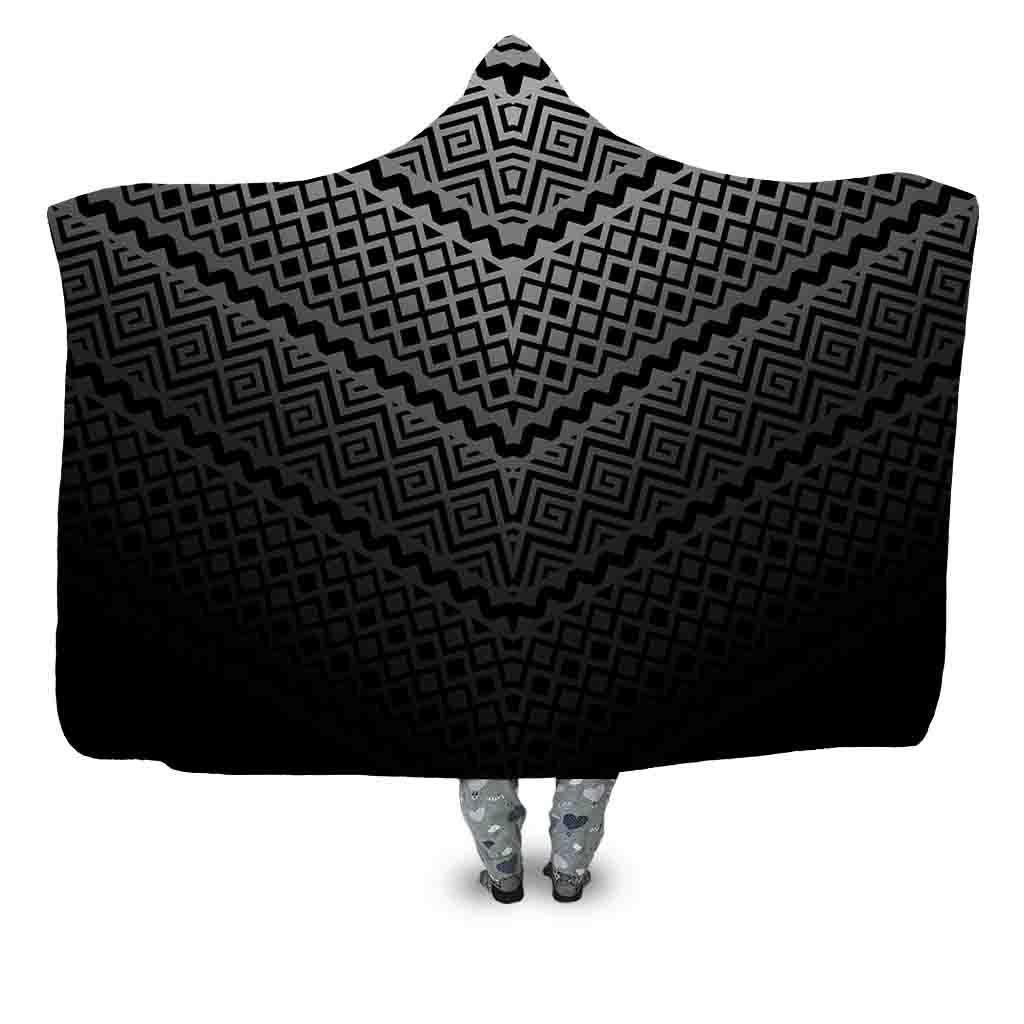 Aztec Spiral Grid – Dark Blanket – C – Hoodie Lab